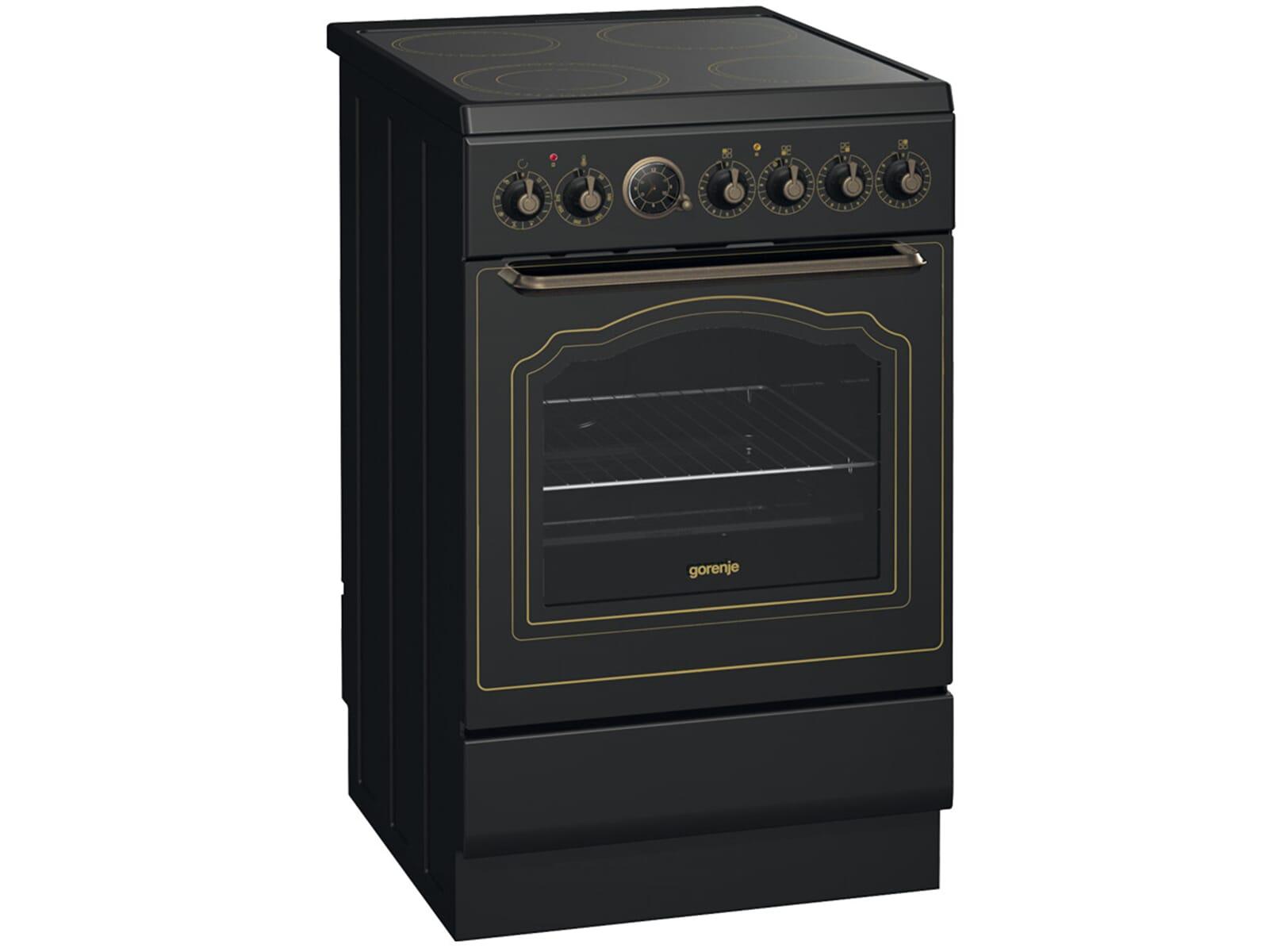 gorenje ec 55 clb1 classico standherd matt schwarz ebay. Black Bedroom Furniture Sets. Home Design Ideas