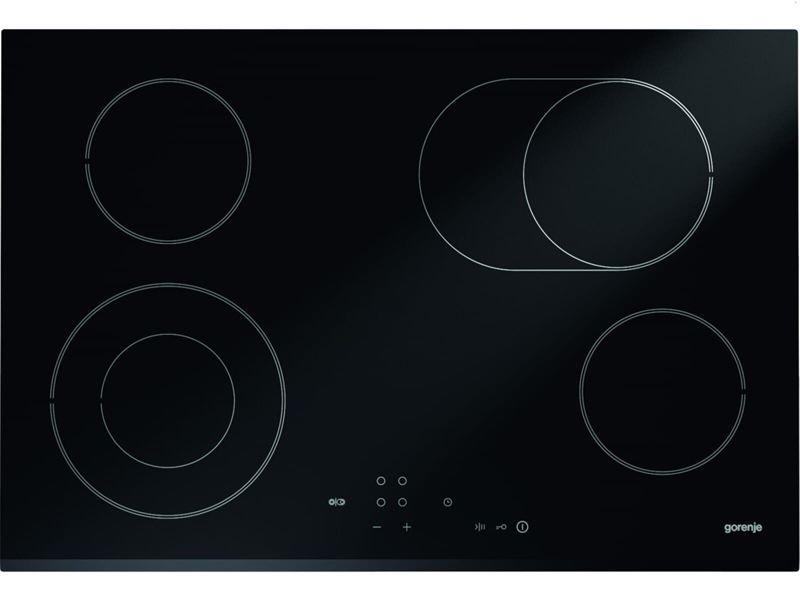 Gorenje Black Pepper Set A06 Backofen BO 647 A20XG + Glaskeramikkochfeld ECT 720 CSC