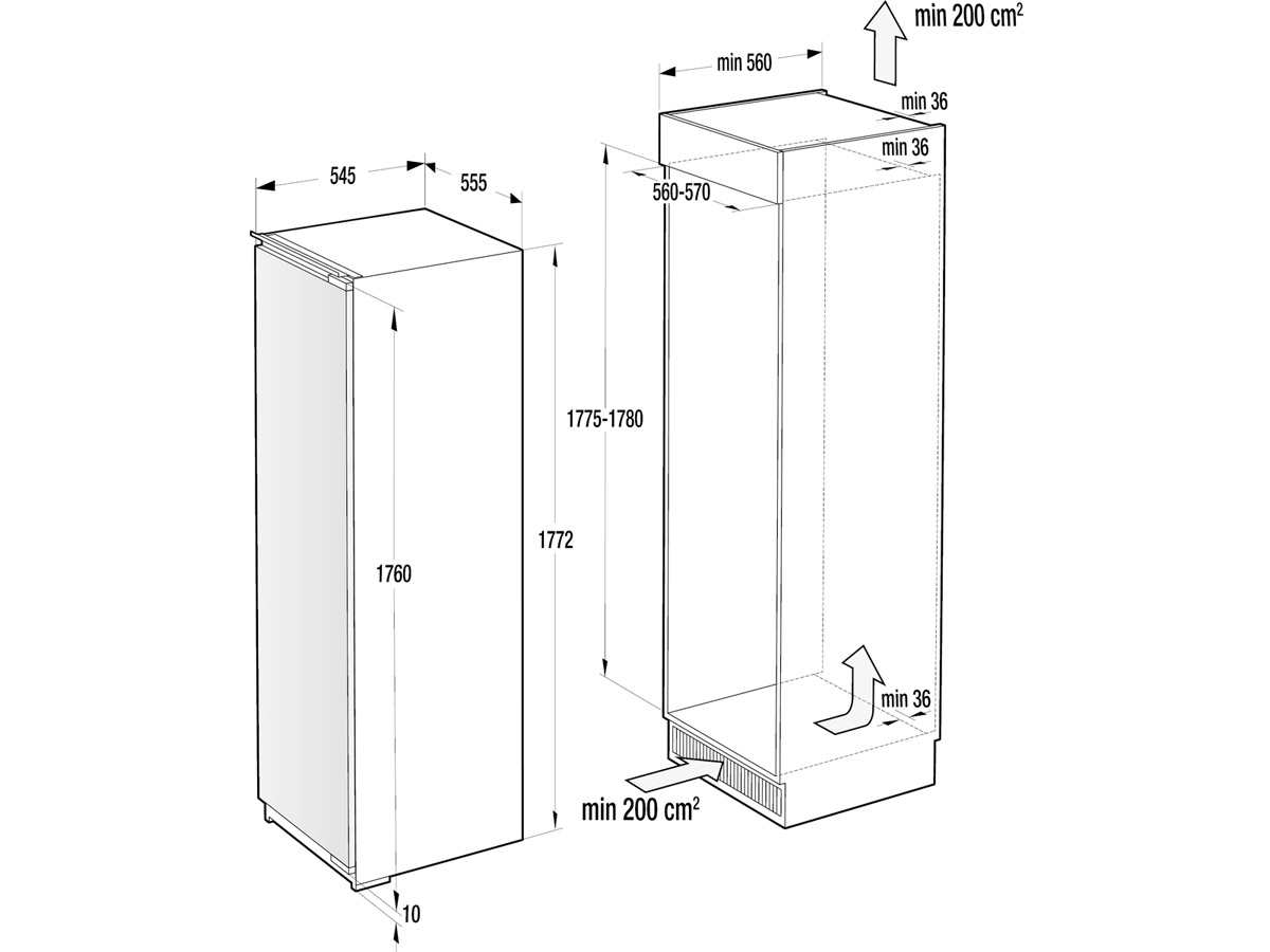 Gorenje FNI 5182 A1 Einbaugefrierschrank