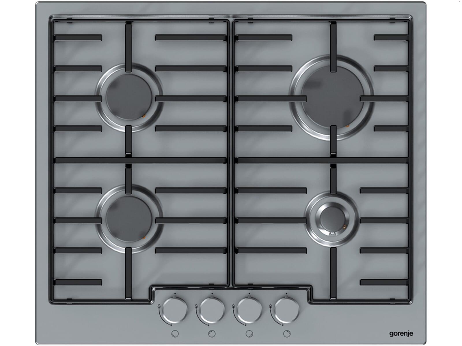 Das autarke Gorenje G 6N40 IX Gaskochfeld aus Edelstahl überzeugt Sie mit einem authentischen Kochgefühl über dem offenen Feuer und höchster Effizienz.