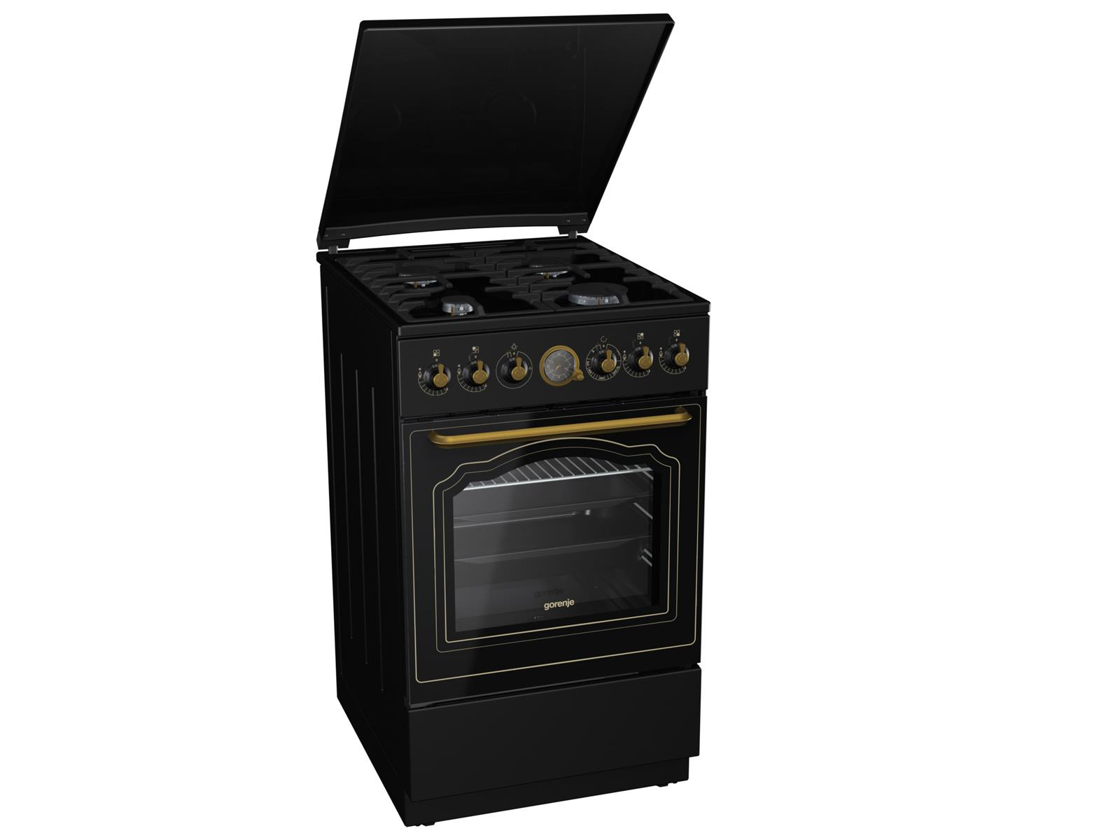 gorenje gi 52 clb classico gas standherd matt schwarz. Black Bedroom Furniture Sets. Home Design Ideas