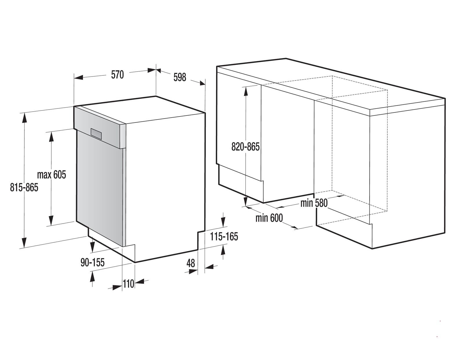 Gorenje GI 62010 X Teilintegrierbarer Einbaugeschirrspüler