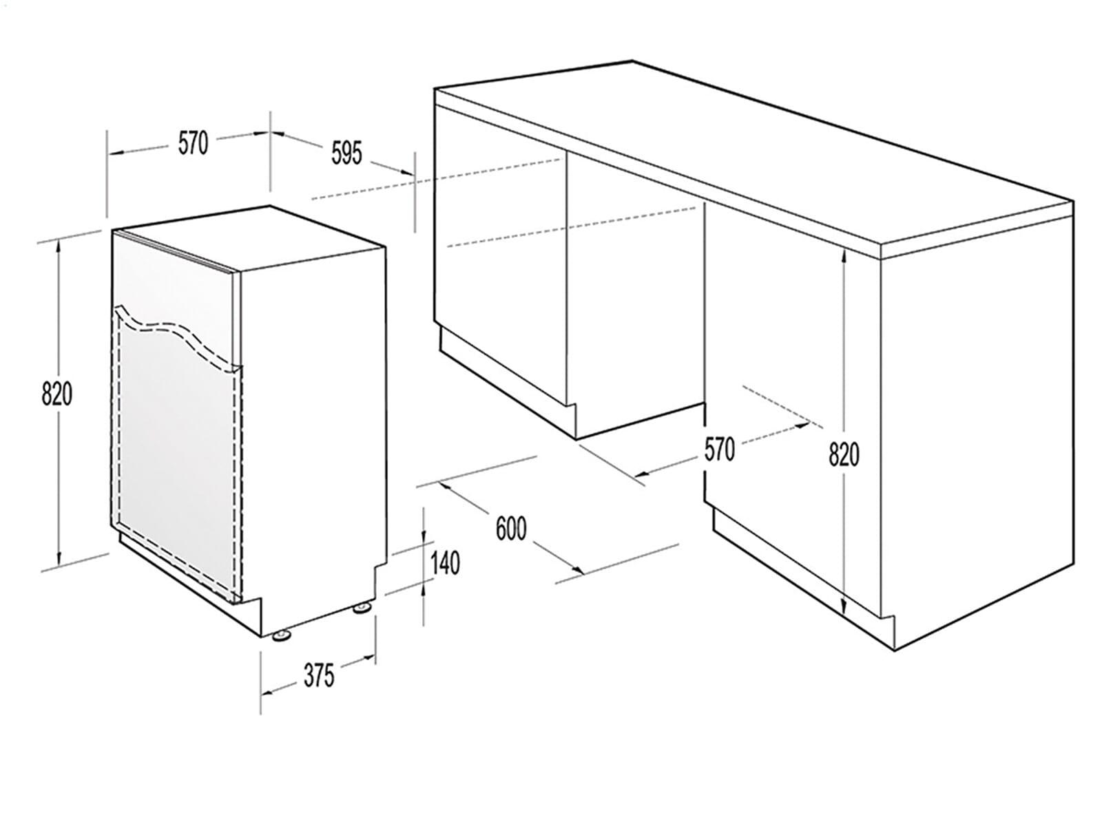 Gorenje GV 65315 Vollintegrierbarer Einbaugeschirrspüler