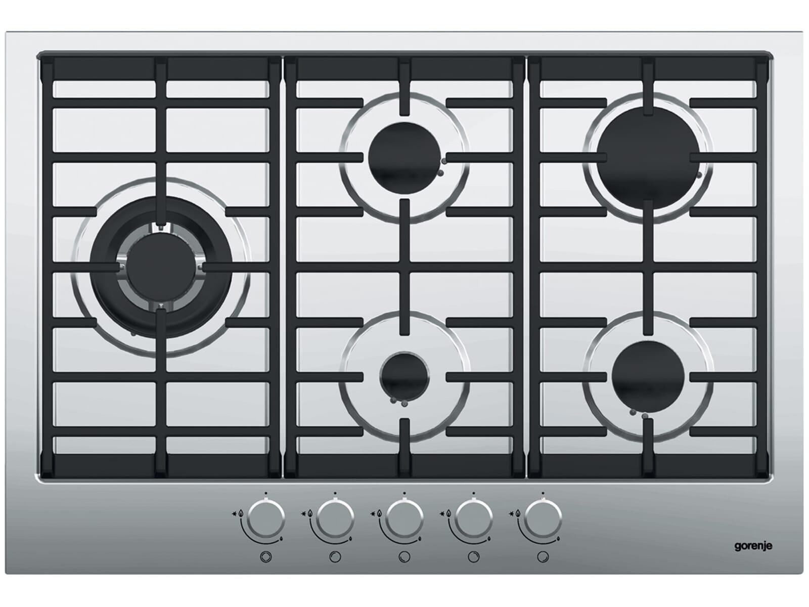 Das autarke Gorenje GW 761 UX Gaskochfeld erzielt hervorragende Kochergebnisse über der offenen Flamme.