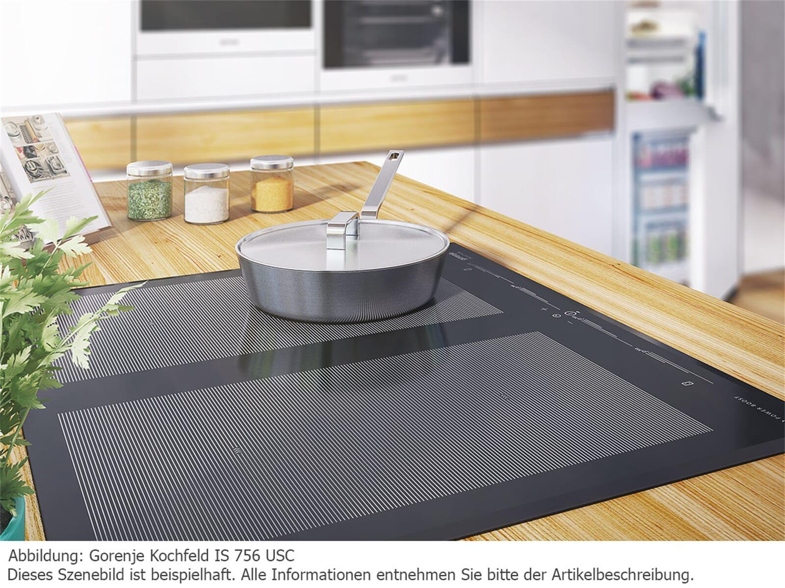 Gorenje Black Pepper Set A03 Backofen BO 647 A20XG + Induktionskochfeld IS 656 X