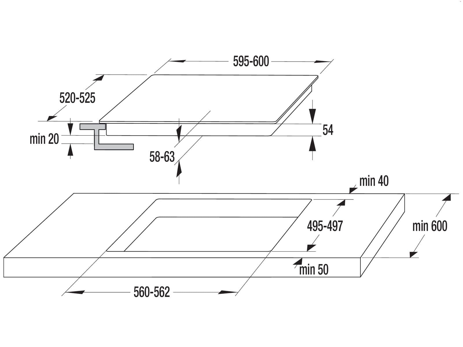 Gorenje Black Set BPS Induktion Backofen BPS737E20BG + Induktions-Kochfeld IT640BX