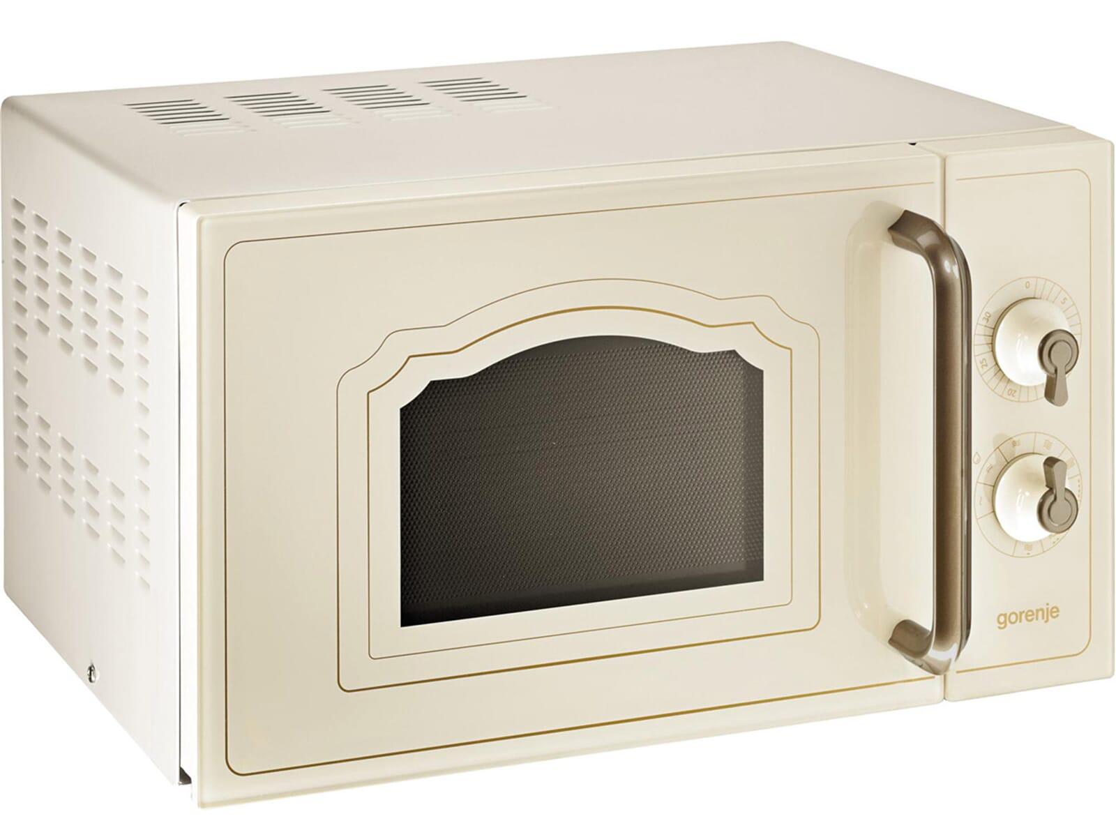 Gorenje Classico MO 4250 CLI Stand-Mikrowelle mit Grill Elfenbein