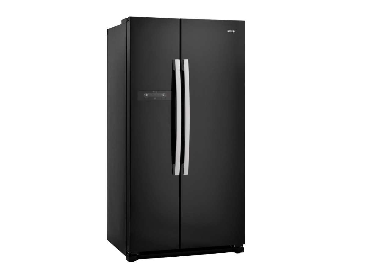 gorenje nrs 9182 bbk side by side k hl gefrier kombination schwarz. Black Bedroom Furniture Sets. Home Design Ideas