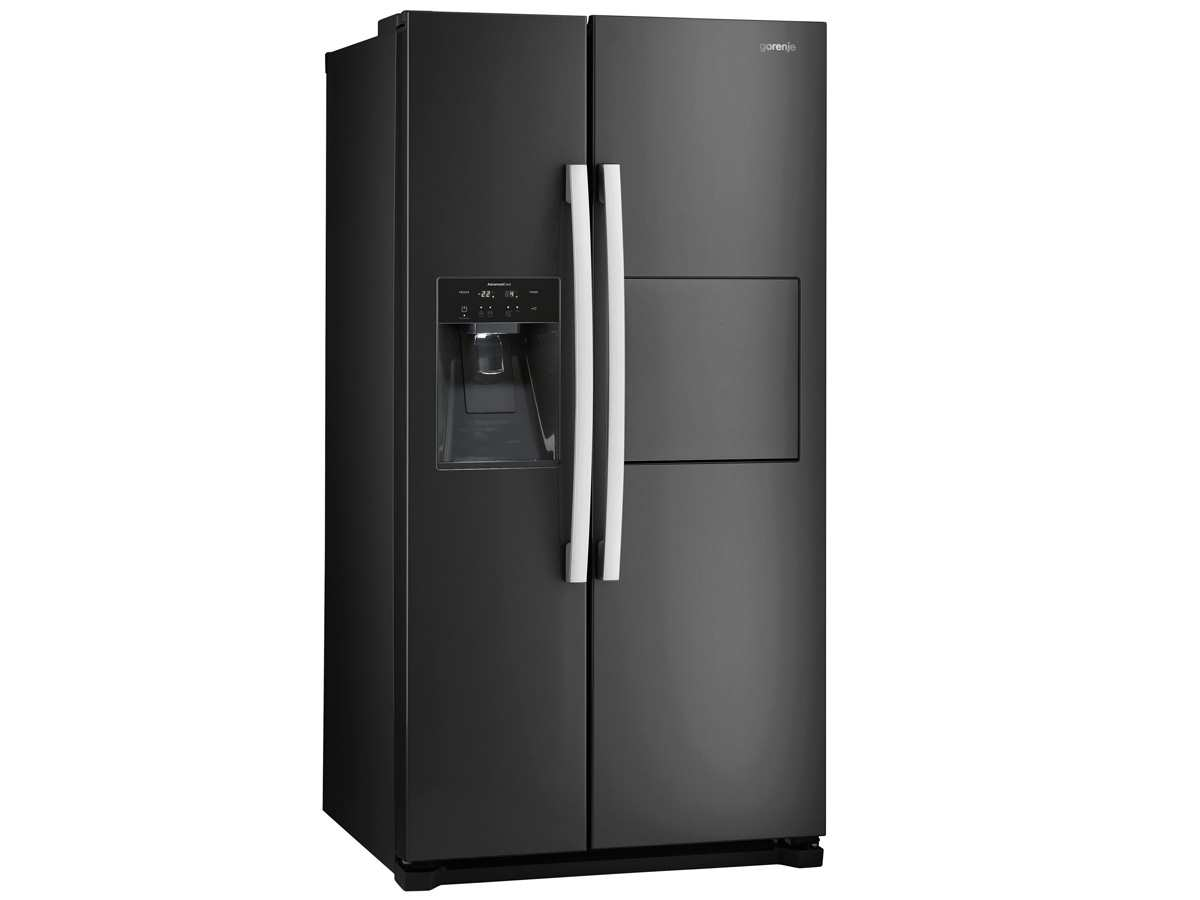 gorenje nrs 9182 cbbk side by side k hl gefrier kombination schwarz. Black Bedroom Furniture Sets. Home Design Ideas