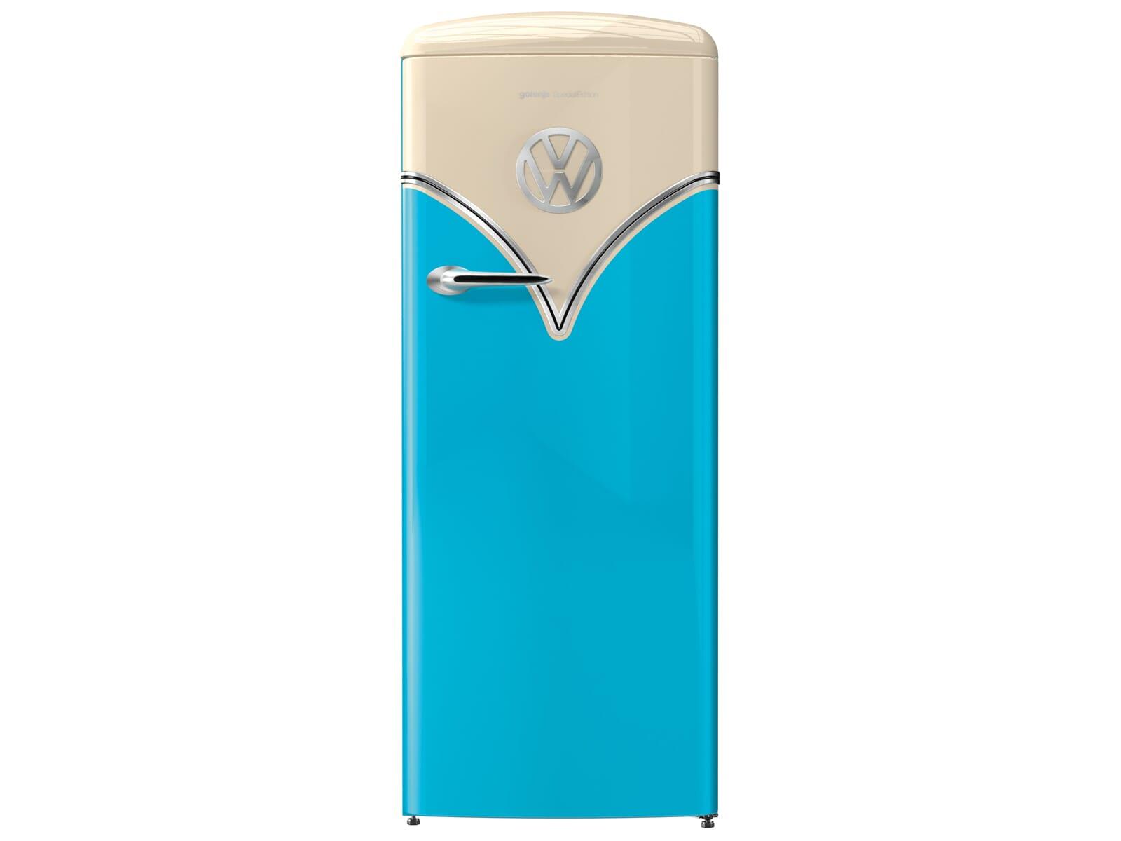 Gorenje OBRB 153 BL VW Bulli Edition Standkühlschrank Baby Blue