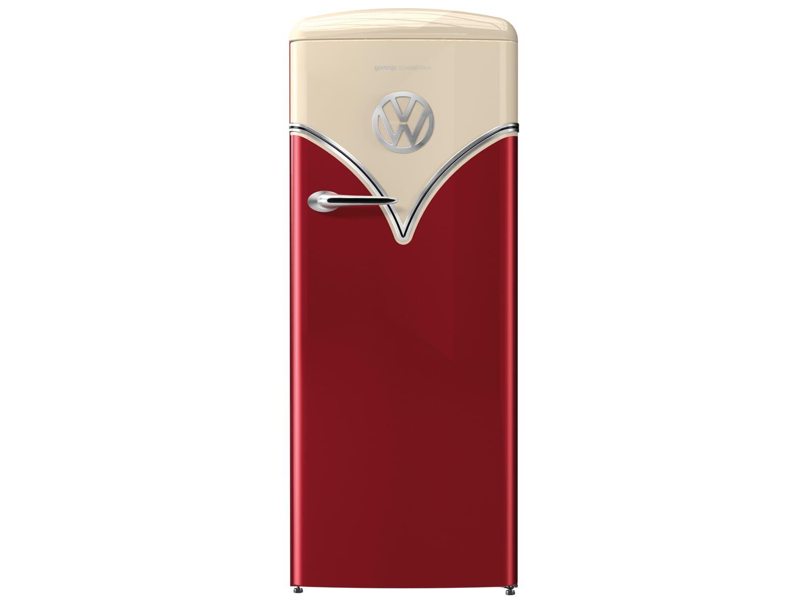 Gorenje OBRB 153 R VW Bulli Edition Standkühlschrank Burgundy