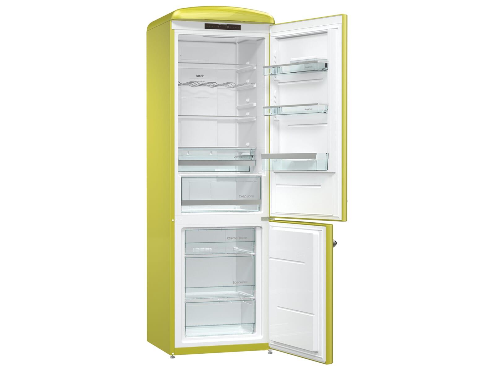 Gorenje Kühlschrank Crispzone : Gorenje onrk ap kühl gefrierkombination apple grün retro