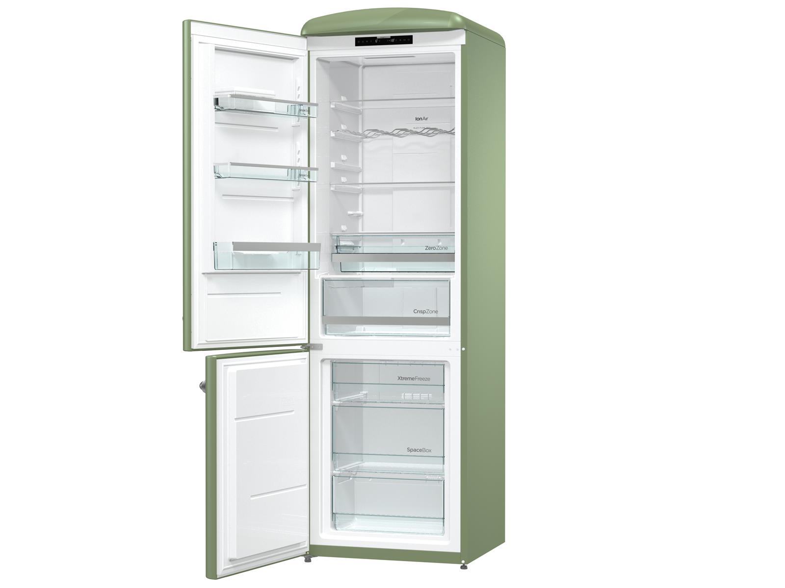 Gorenje Kühlschrank Grün : Gorenje onrk ol l kühl gefrierkombination olive grün