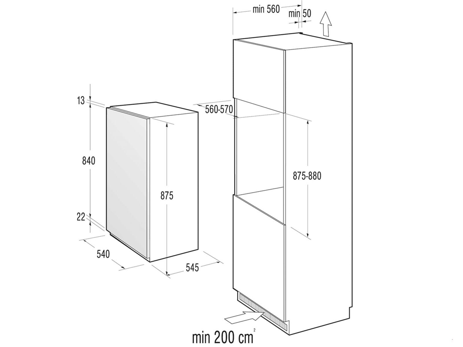 gorenje rbi 4092 aw einbauk hlschrank. Black Bedroom Furniture Sets. Home Design Ideas