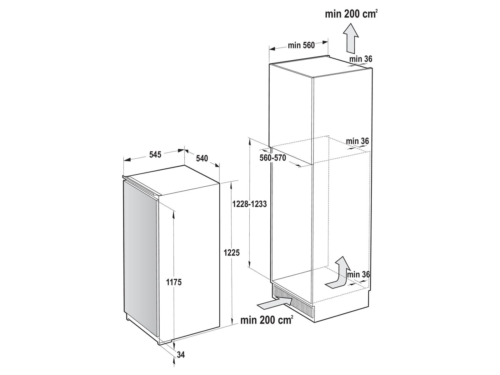 Gorenje RBI 4122 E1 Einbaukühlschrank mit Gefrierfach