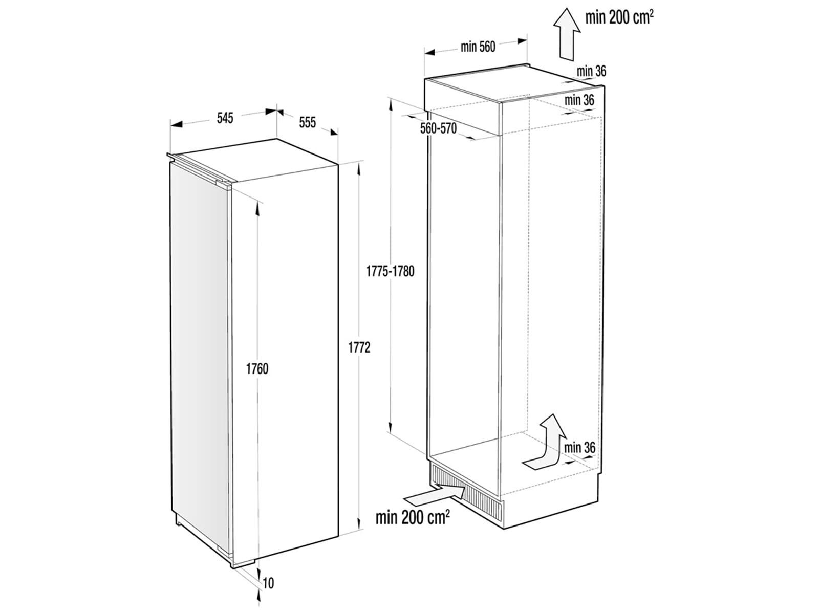 gorenje rbi 5182 e1 einbauk hlschrank mit gefrierfach. Black Bedroom Furniture Sets. Home Design Ideas