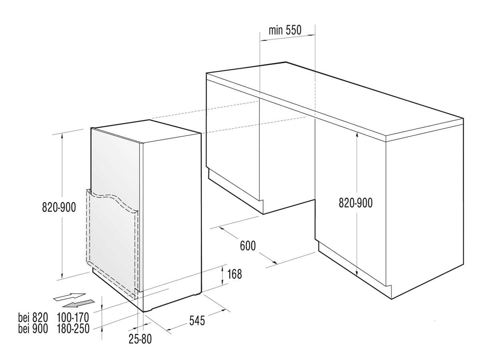 Unterbaukühlschränke  Gorenje RBIU 6092 AW Unterbaukühlschrank