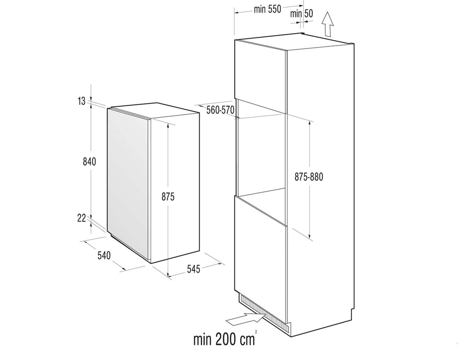 gorenje ri 4092 aw einbauk hlschrank. Black Bedroom Furniture Sets. Home Design Ideas
