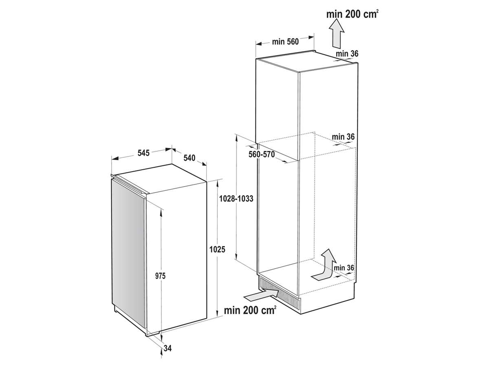 Gorenje RI 4102 E1 Einbaukühlschrank
