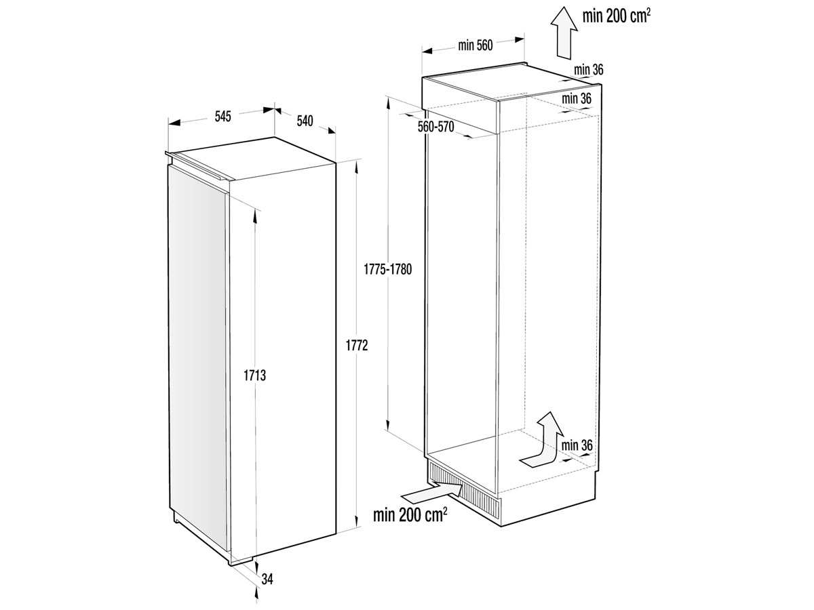 gorenje ri 4182 e1 einbauk hlschrank ebay. Black Bedroom Furniture Sets. Home Design Ideas