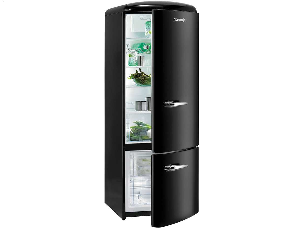 gorenje rk 60319 obk k hl gefrierkombination black. Black Bedroom Furniture Sets. Home Design Ideas