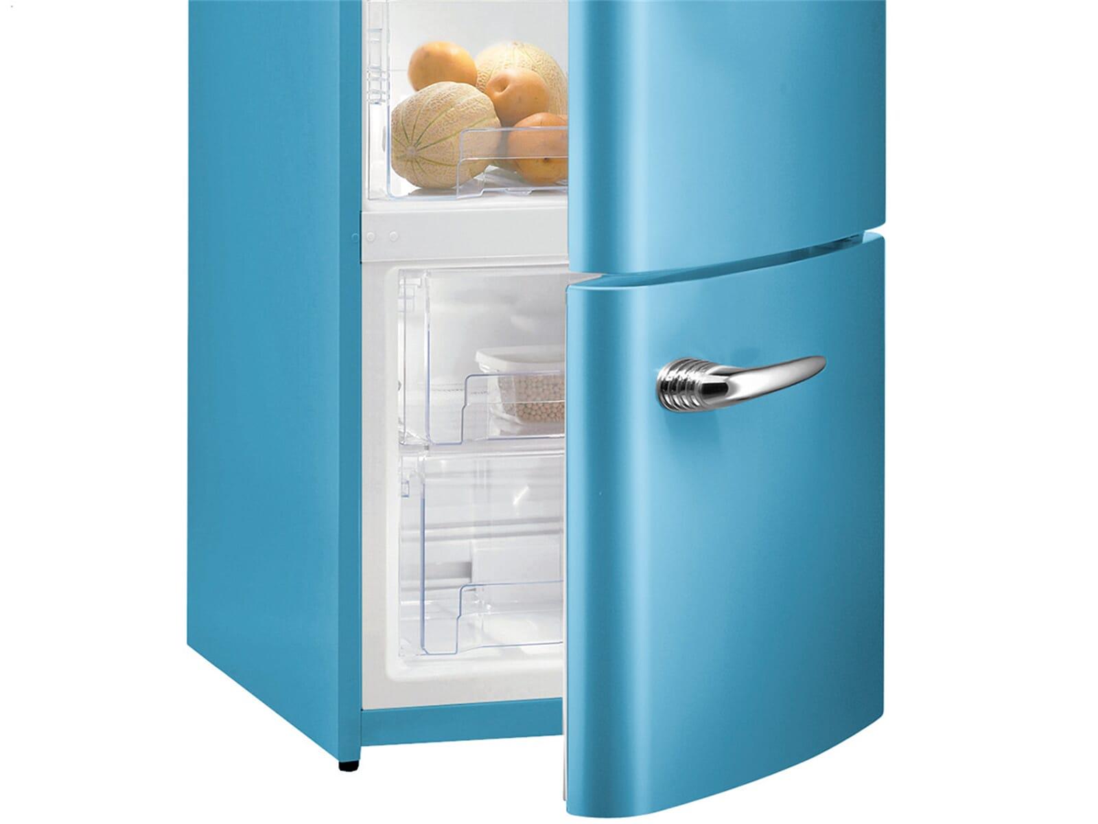 Gorenje Kühlschrank Blau : Gorenje rk obl kühl gefrierkombination baby blue