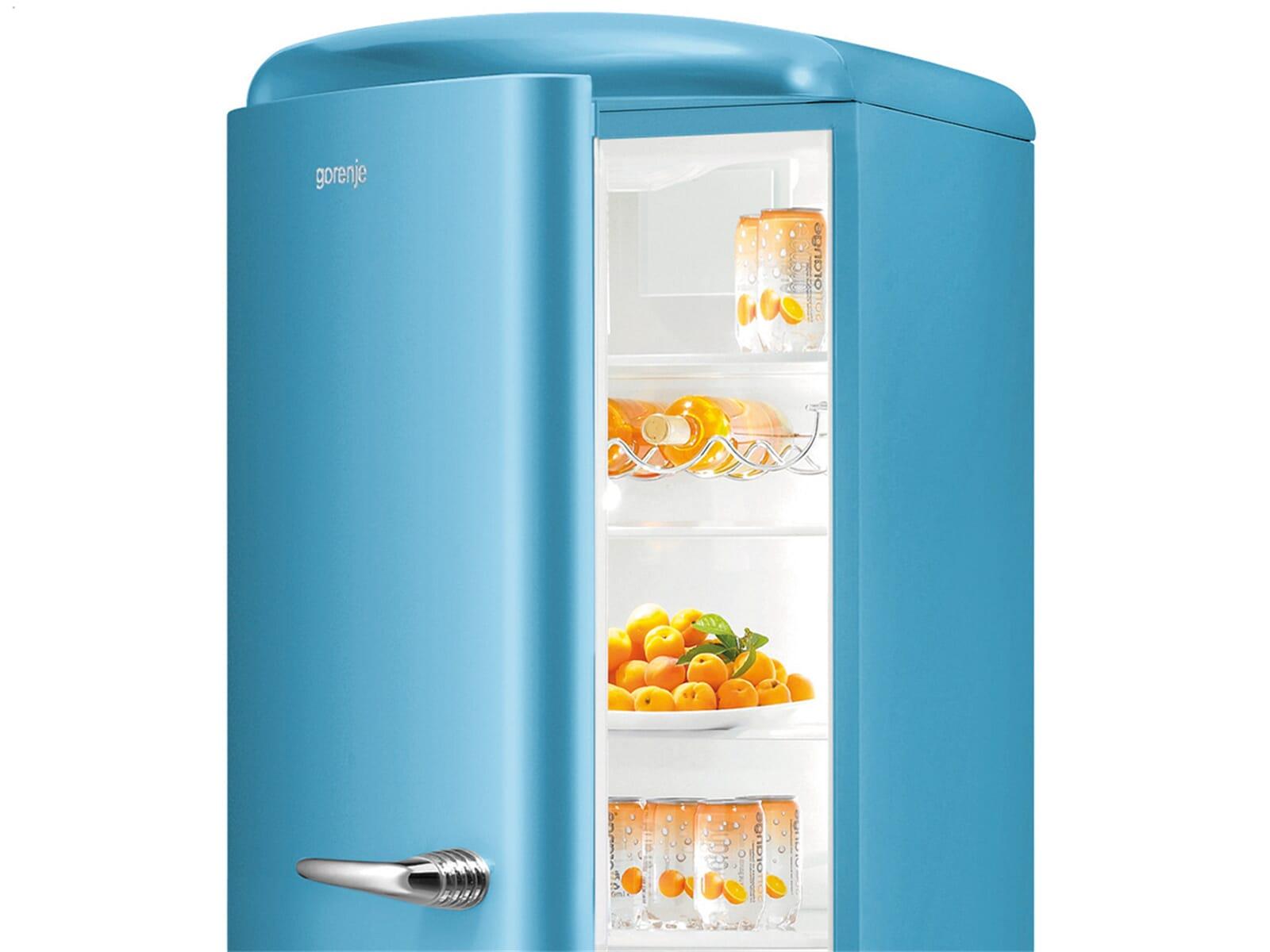 Gorenje Kühlschrank Blau : Gorenje rk obl l kühl gefrierkombination baby blue