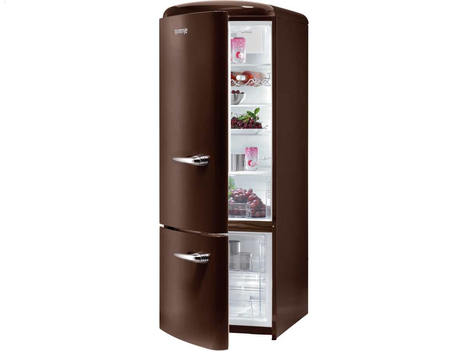 Gorenje Kühlschrank Ohne Gefrierfach : Gorenje rk och l kühl gefrierkombination dark chocolate ebay
