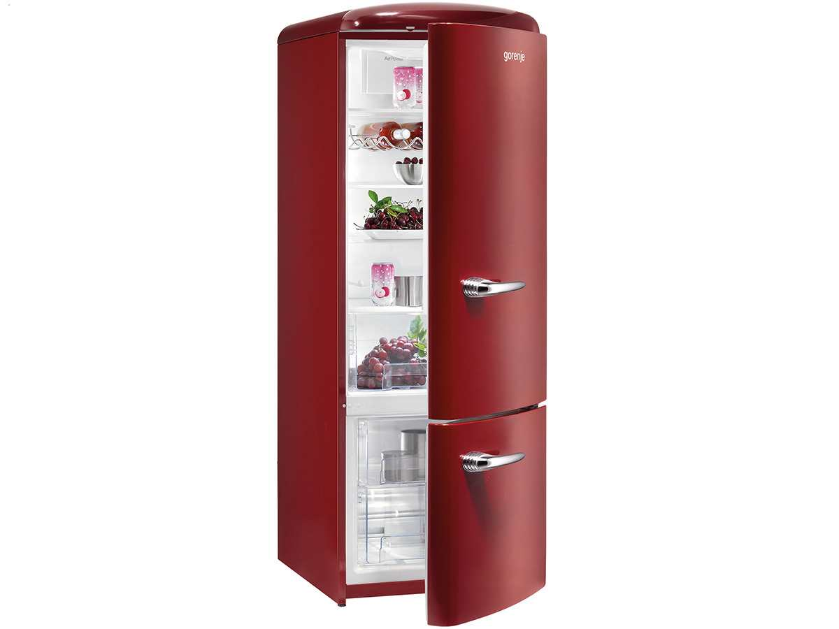 gorenje rk 60319 or k hl gefrierkombination burgundy. Black Bedroom Furniture Sets. Home Design Ideas