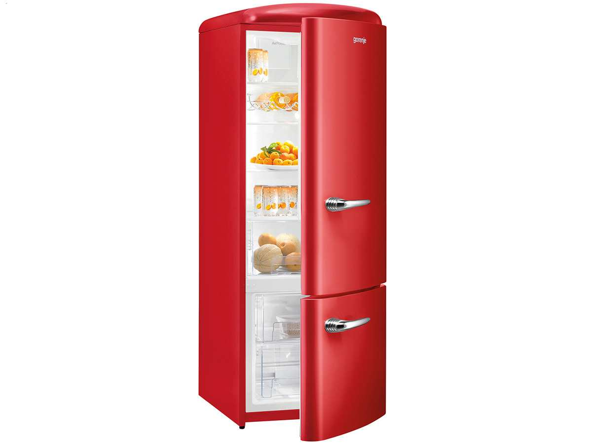 Gorenje RK 60319 ORD Kühl-Gefrierkombination Fire Red