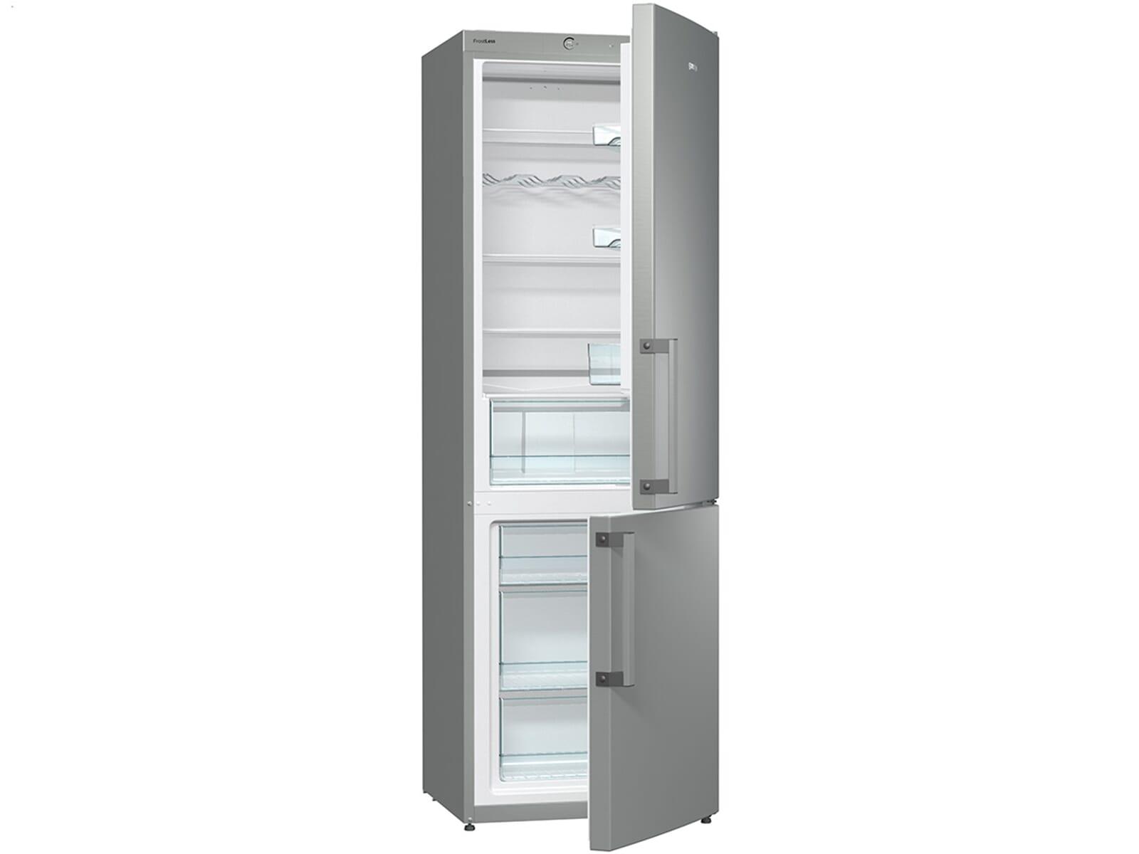 Gorenje Kühlschrank Flaschenfach : Gorenje rk 6192 ax kühl gefrierkombination inox
