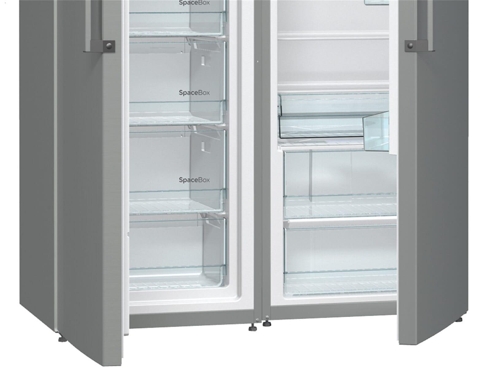 Gorenje Kühlschrank Gebrauchsanweisung : Gorenje sbs cfx side by side kühl gefrier kombination grau