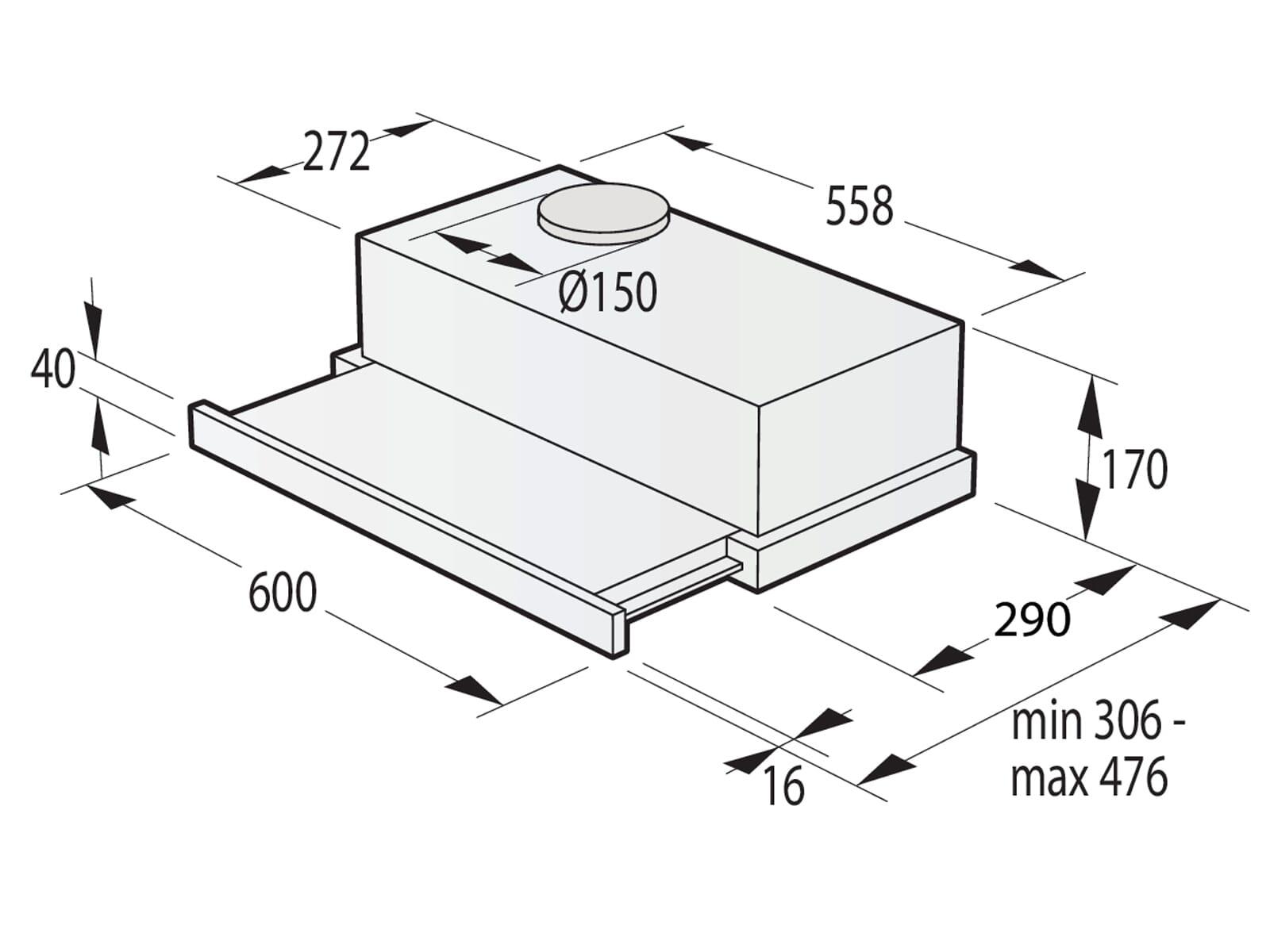 Gorenje TH62E4X Flachschirmhaube 60 cm Edelstahl