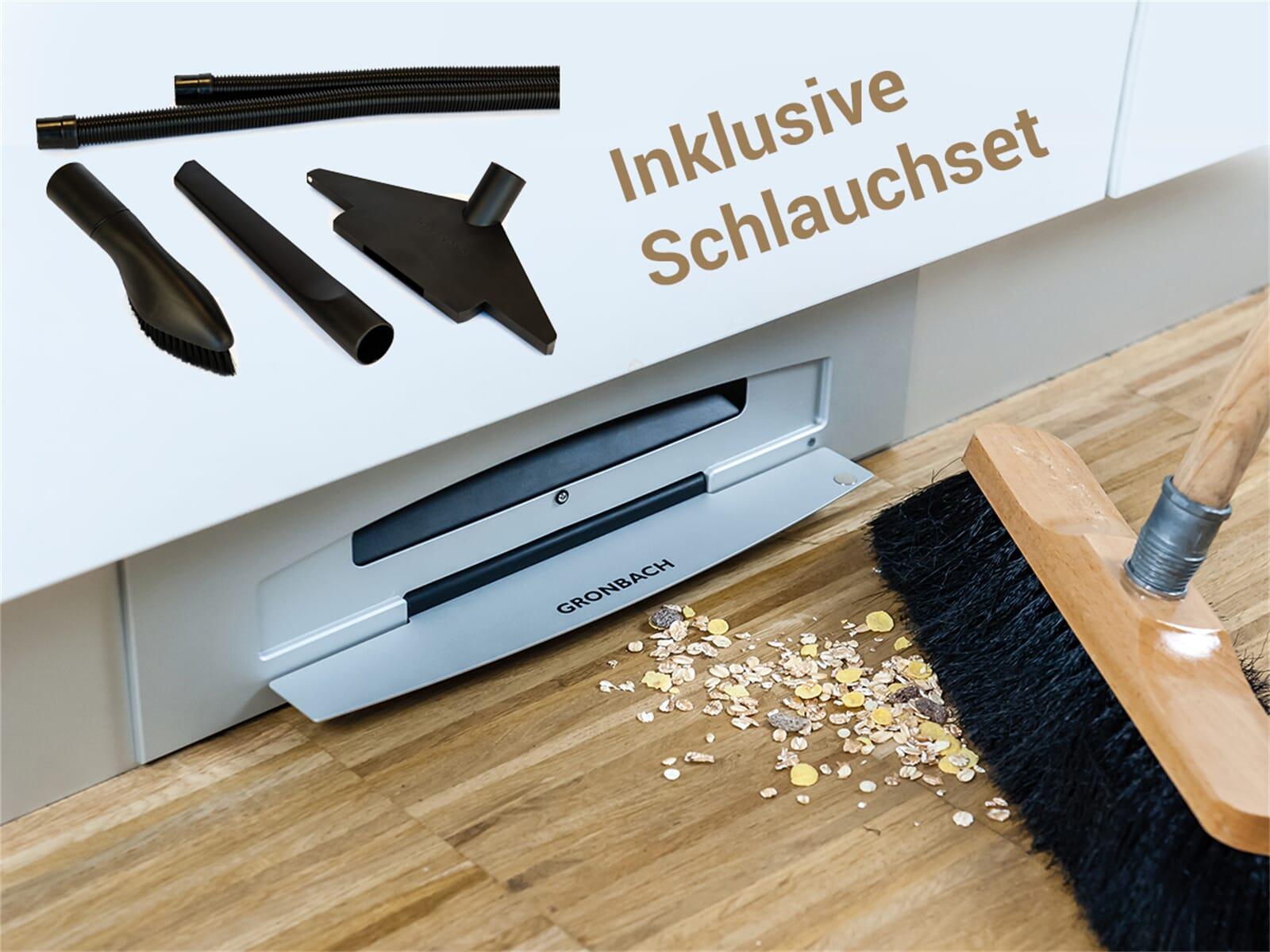 Gronbach Sockelsauger E6 Aluminium + Schlauchset