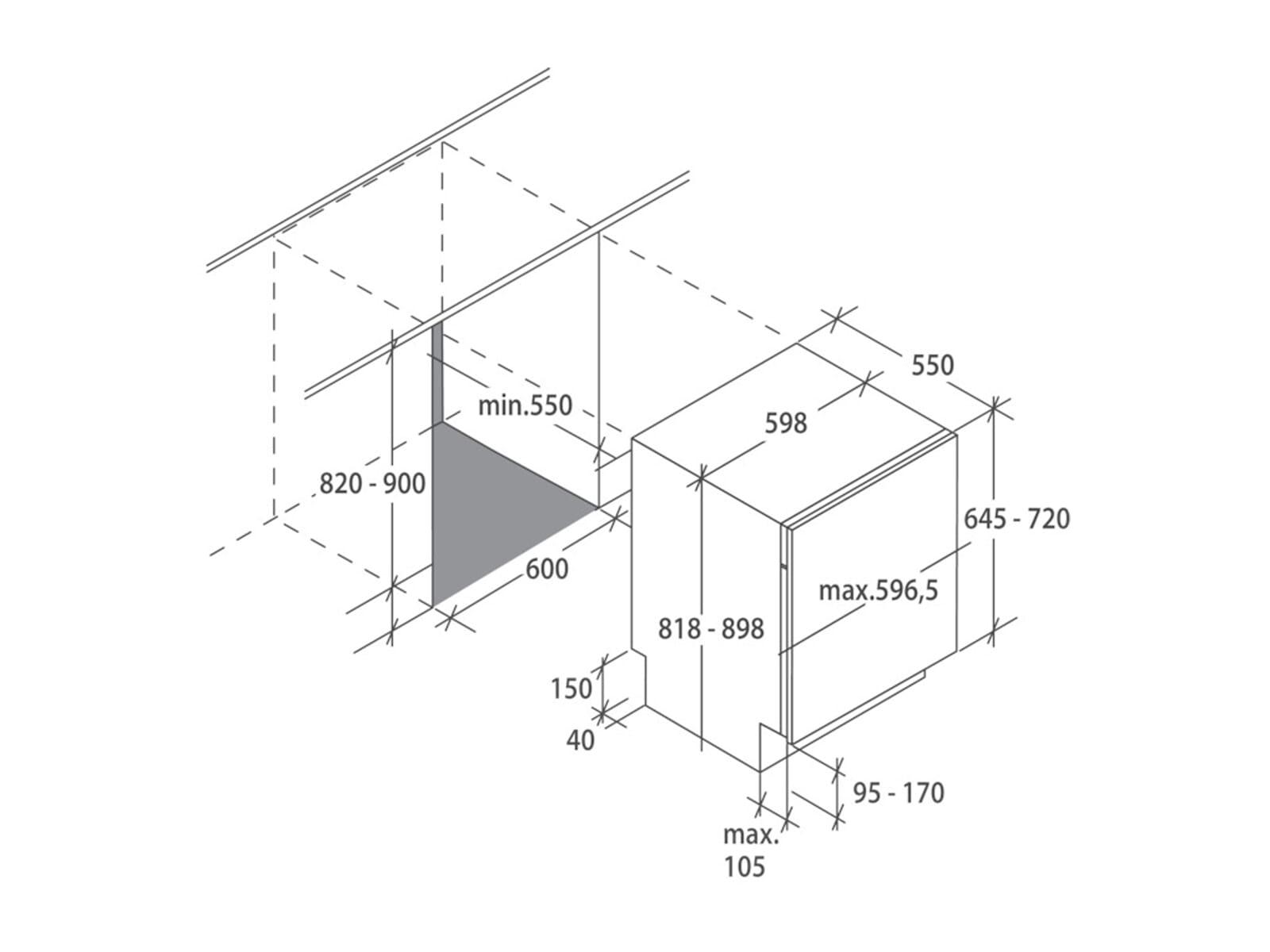 Haier BF 4D620B Vollintegrierbarer Einbaugeschirrspüler