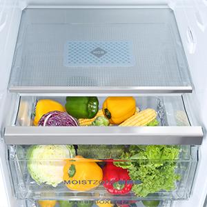 Gemüseschublade mit Luftfeuchtigkeitskontrolle