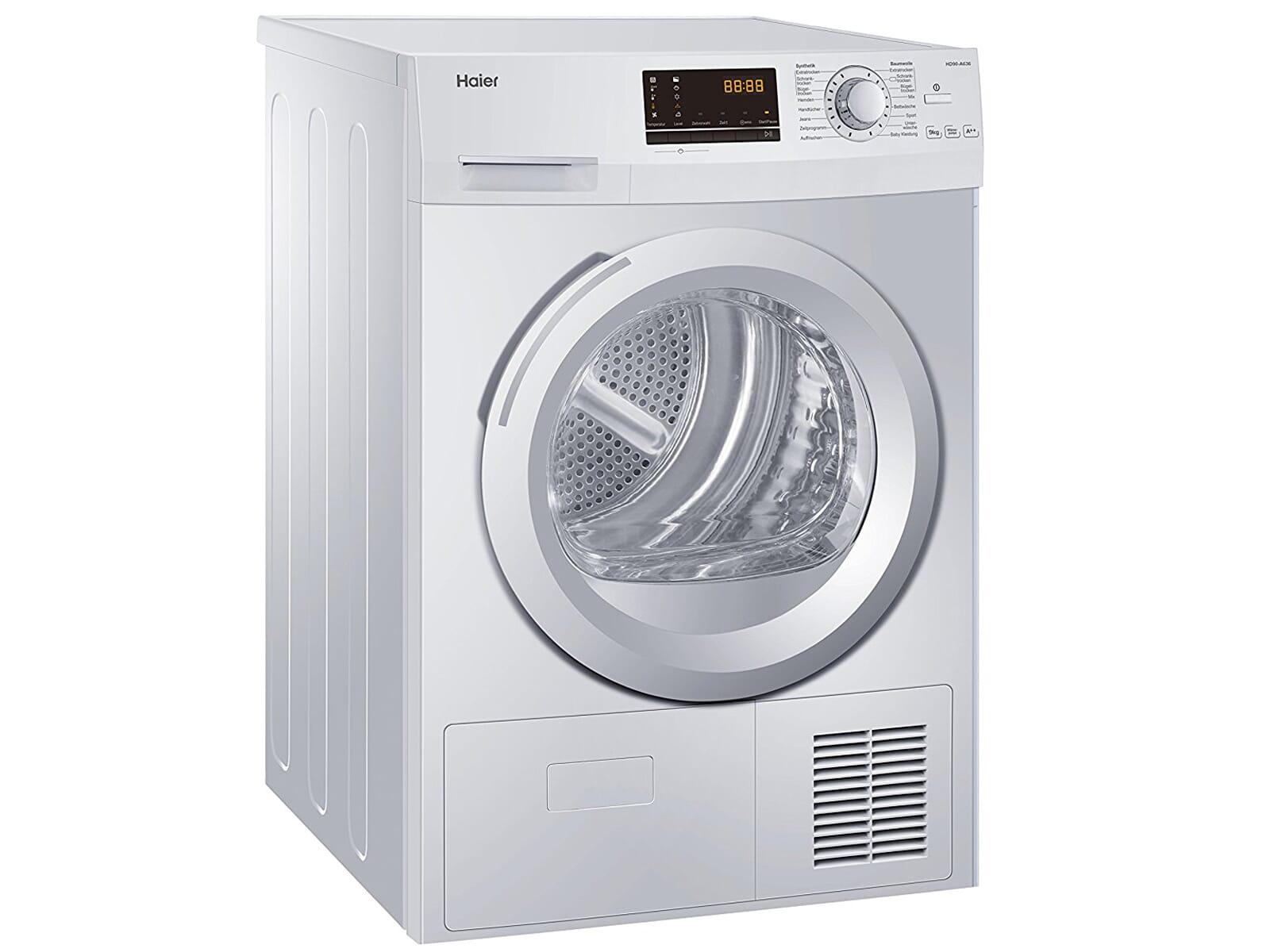 Haier hd90 a636 trockner weiß wäschetrockner kondenstrockner