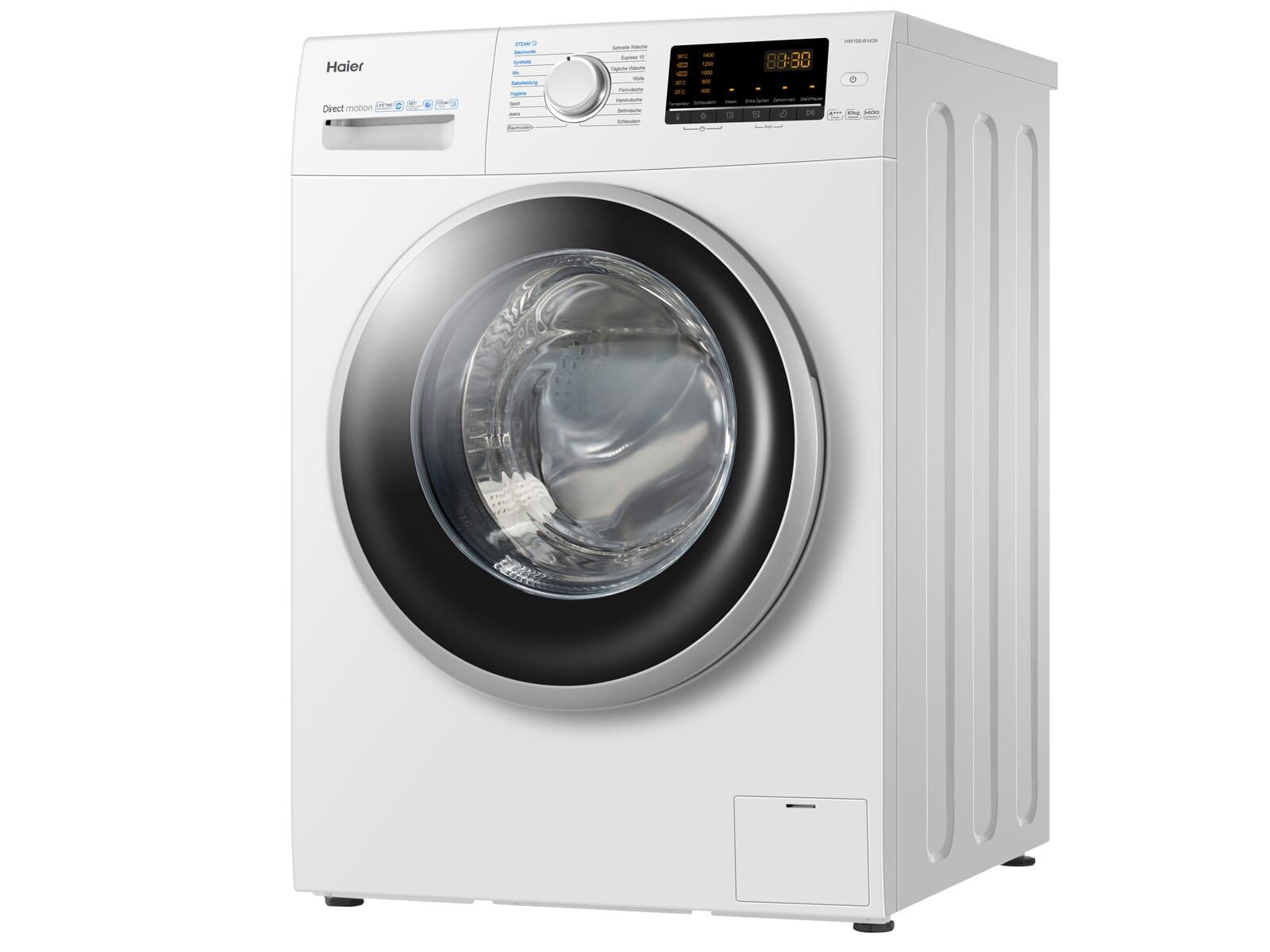 Haier HW100-B1439 Waschmaschine Weiß