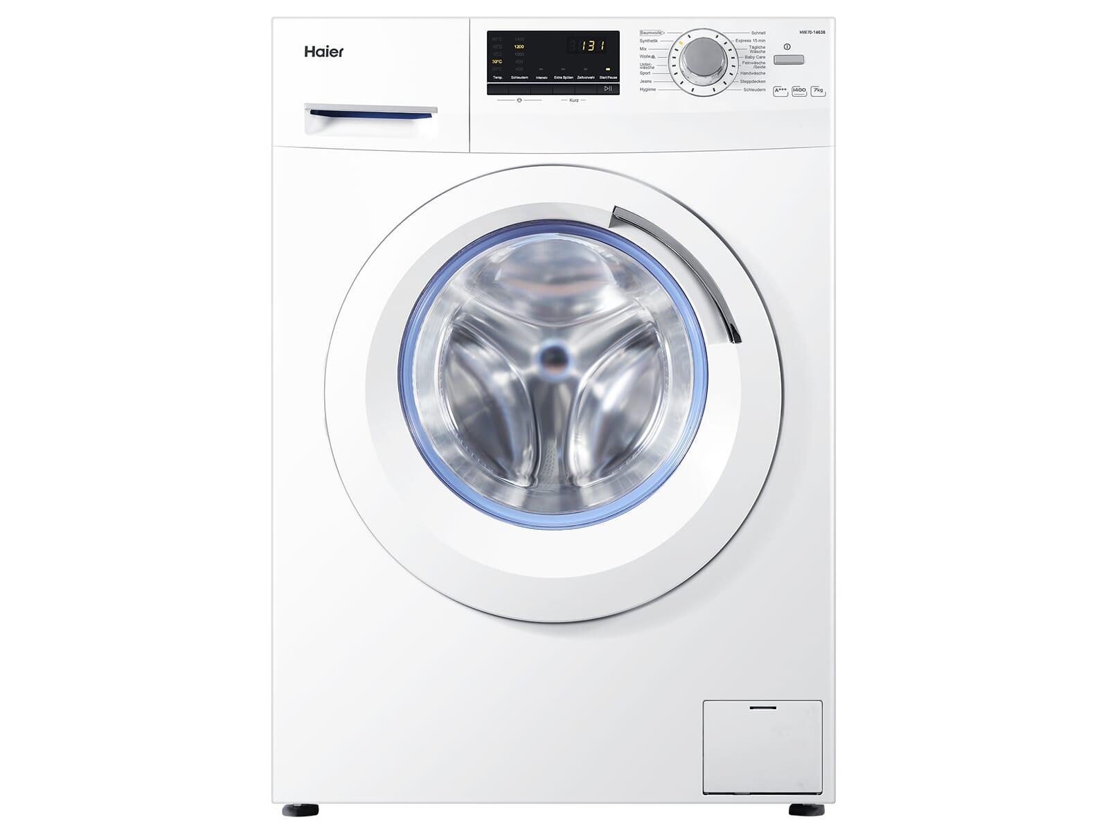 haier hw70 14636 waschmaschine wei. Black Bedroom Furniture Sets. Home Design Ideas