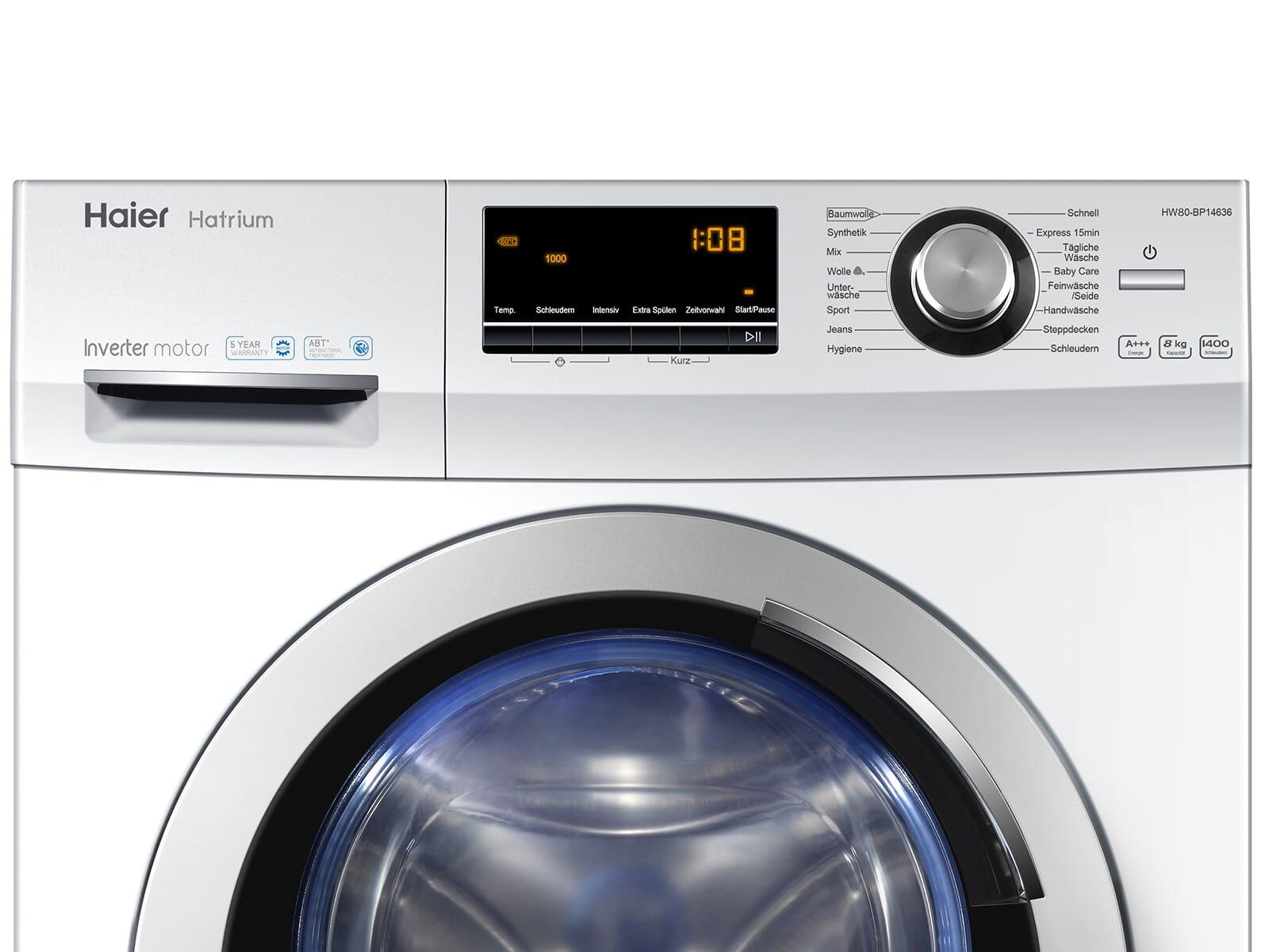 Haier HW80-BP14636 Waschmaschine Weiß