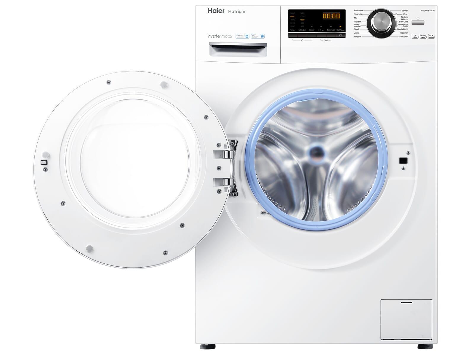 Haier HWD80-B14636 Waschtrockner Weiß