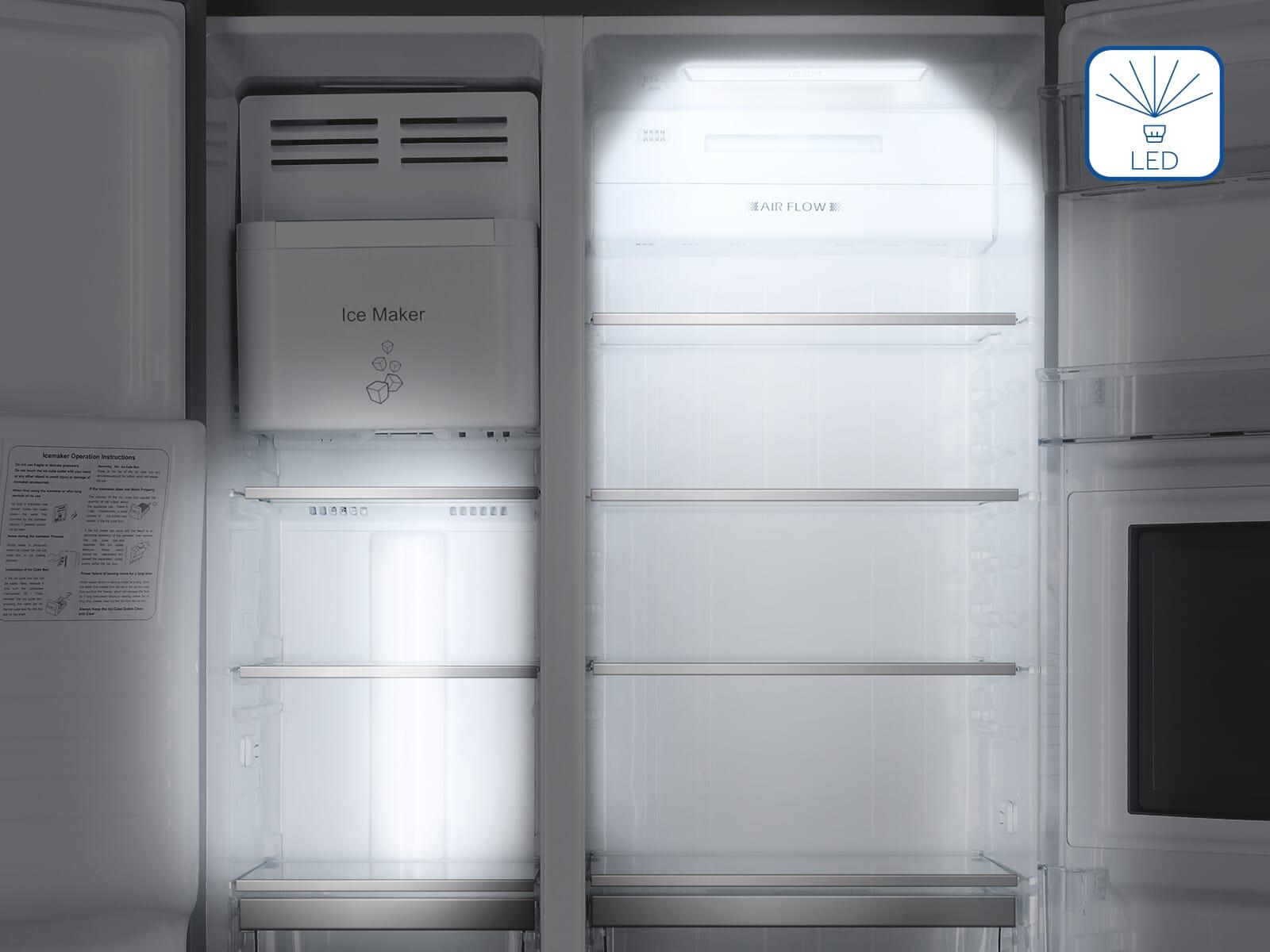 Bosch Kühlschrank Immer Wasser Unter Gemüsefach : Haier hrf 630am7 side by side kühl gefrier kombination edelstahllook