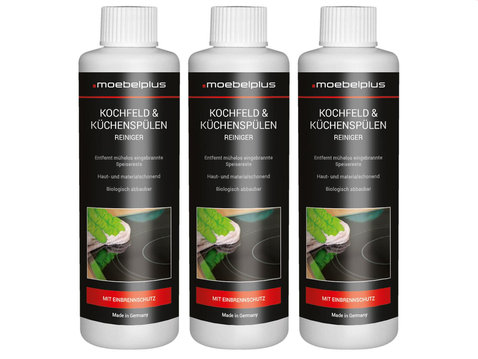 moebelplus Kochfeld & Küchenspülen Reiniger - 3er Set