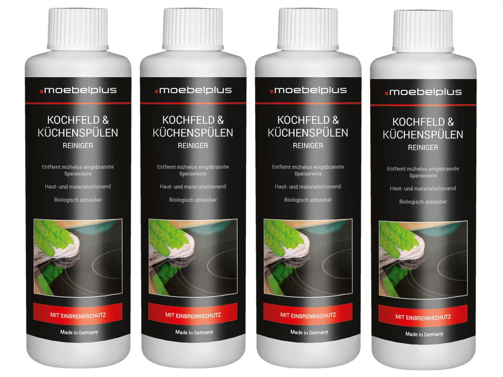 moebelplus Kochfeld & Küchenspülen Reiniger - 4er Set