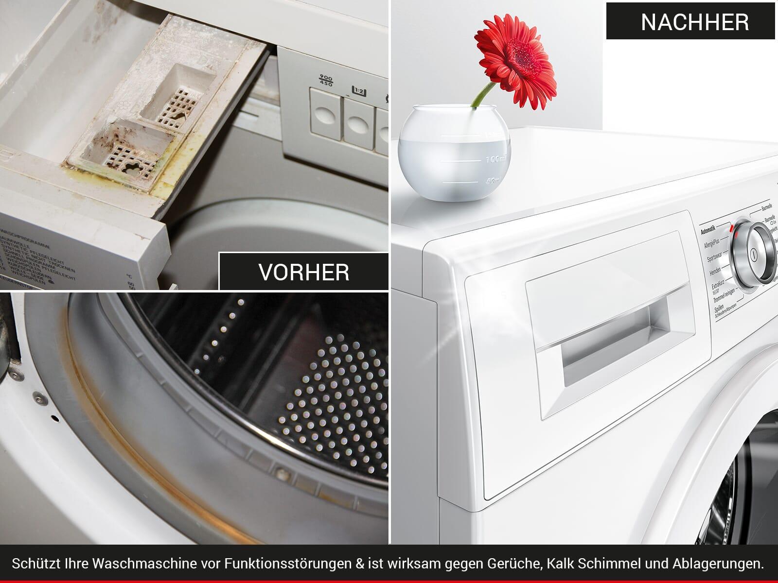 moebelplus Waschmaschinen Systempflege - 4er Set