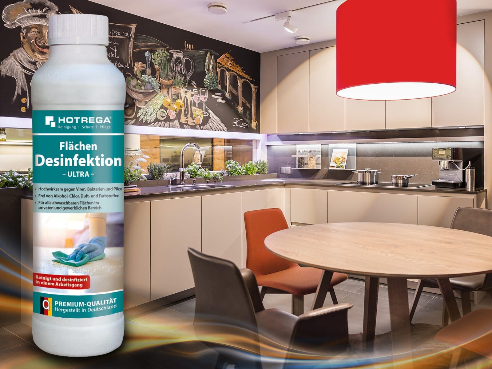 Hotrega H230129 Desinfektions-Reiniger ultra - Virenschutz - 4er Set