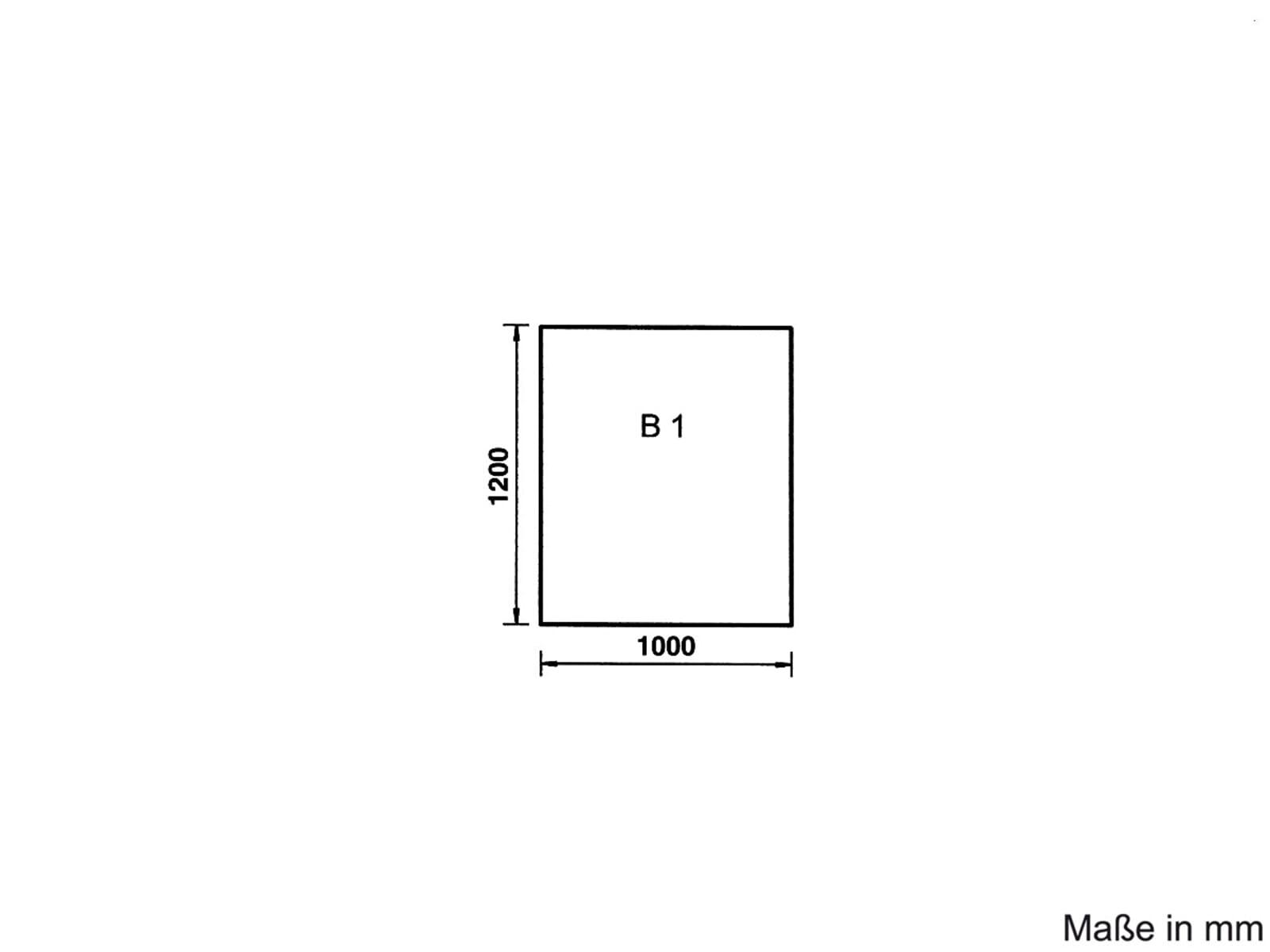 Justus Unterlegplatte B1 Glas Rechteck 9201 60