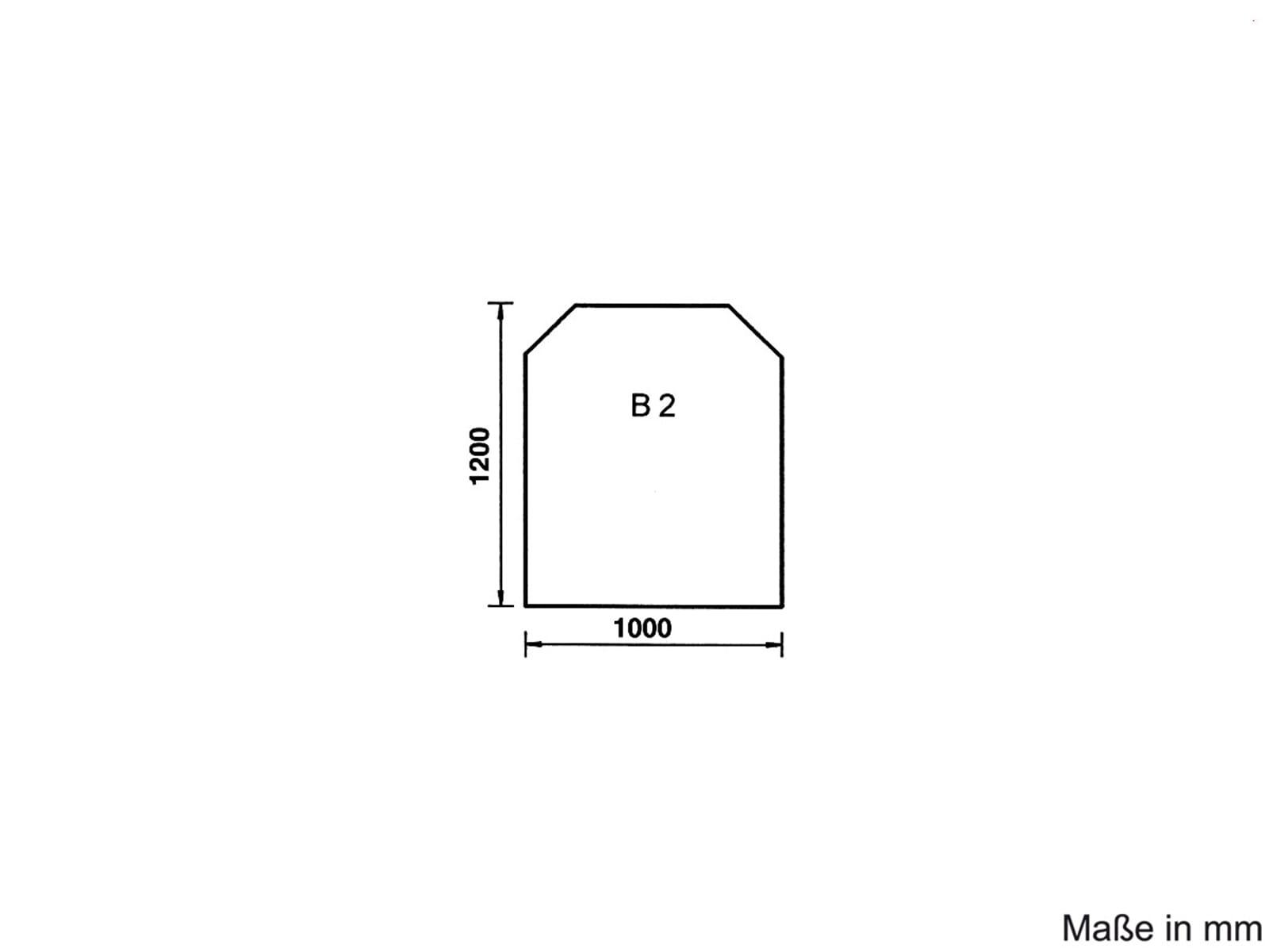 Justus Unterlegplatte B2 Glas Trapez 9201 61