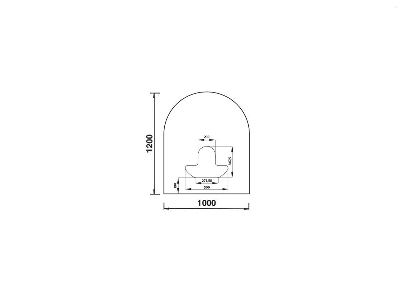 Justus Unterlegplatte Glas B3 9214 05 Rundbogen
