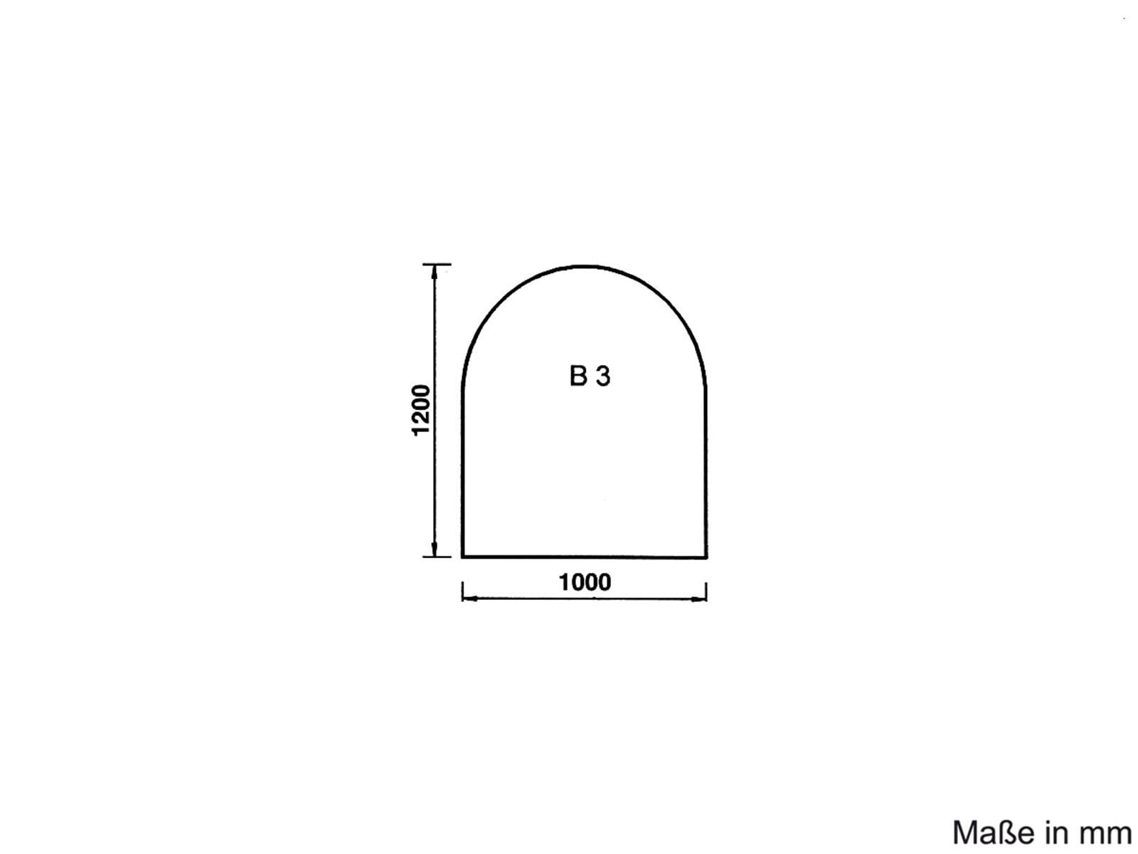 Justus Unterlegplatte Glas B3 9201 62 Rundbogen